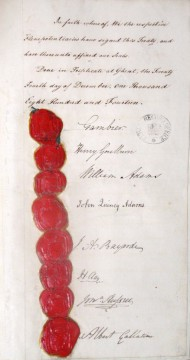 Signatories of Treaty of Ghent, 24 December 1814. Catalogue ref: FO 93/8/8