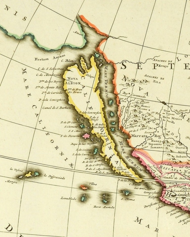 The island of California (c 1700). Catalogue reference: ZMAP 2/1, vol 2, plate 113 (detail)