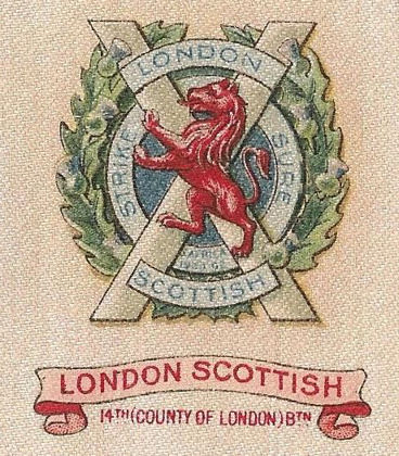London Scottish 1915 silk regimental badge