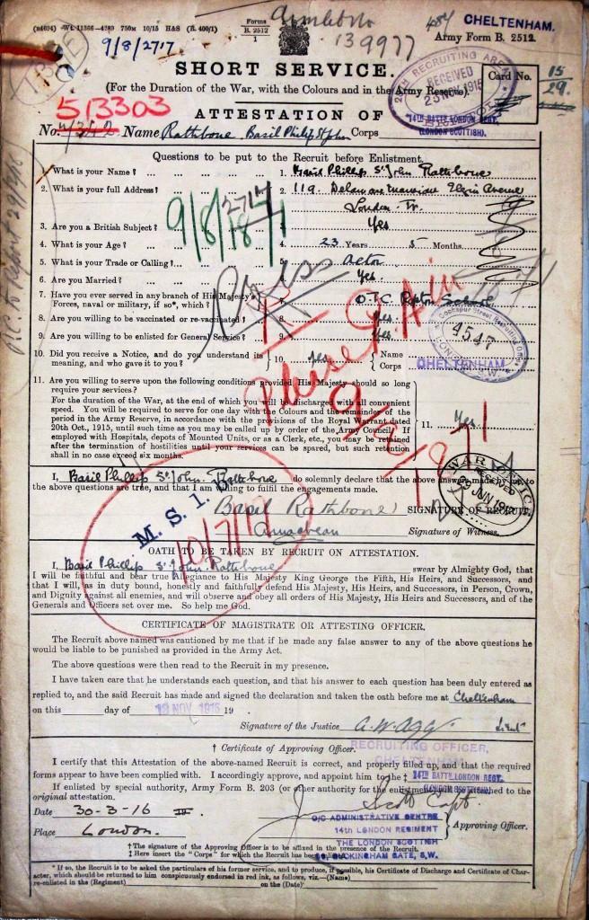 Basil Rathbone attestation