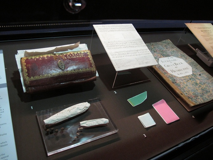 Prize papers display related to the captured ship, Henriette.
