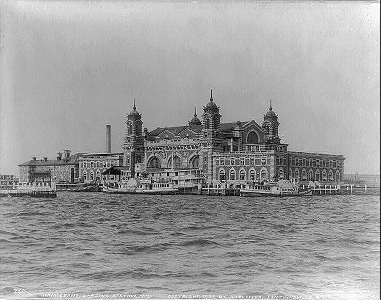 Image showing Ellis Island immigration centre approximately 1905.