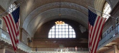 An image showing Ellis Island immigration hall as it is today.