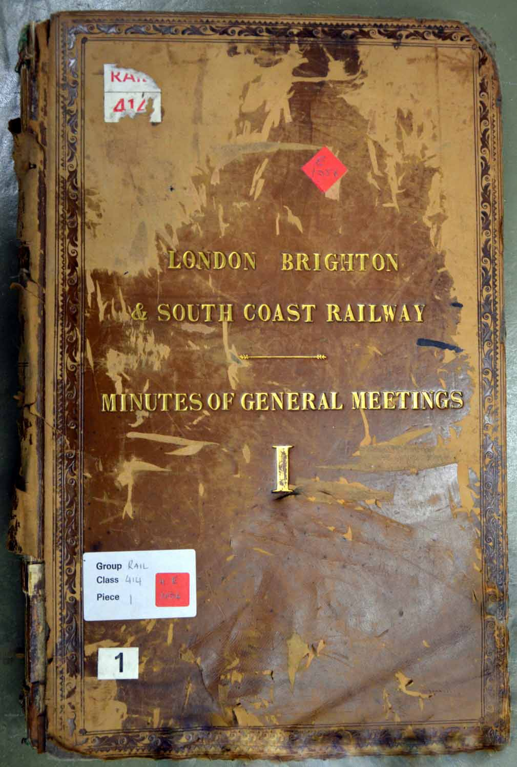 South Coast Railway, catalogue reference RAIL 414/1.