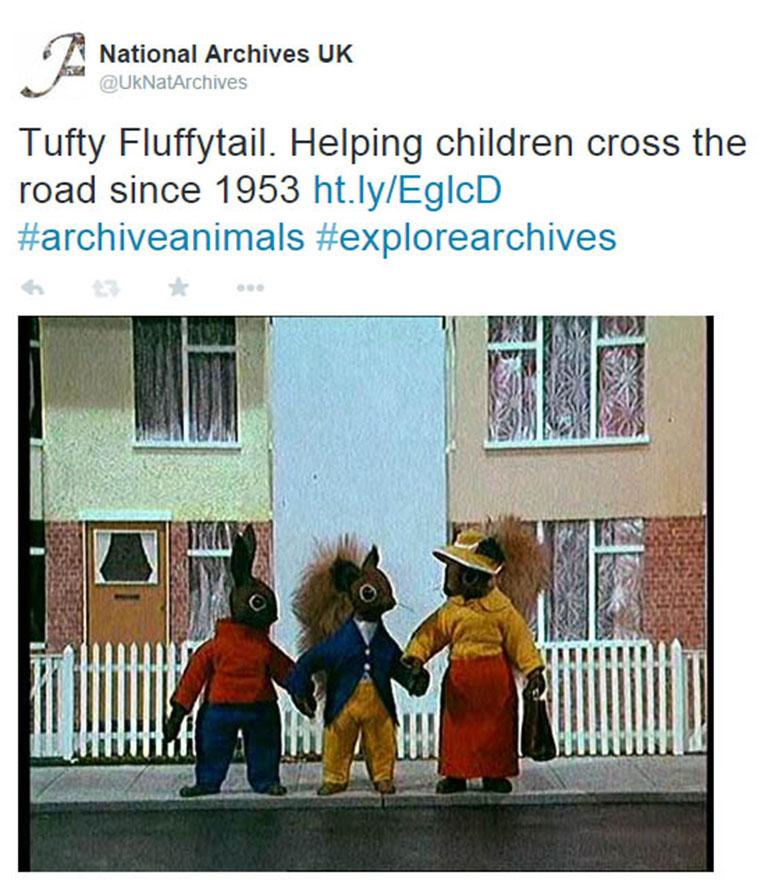 Screenshot of tuffty tweet