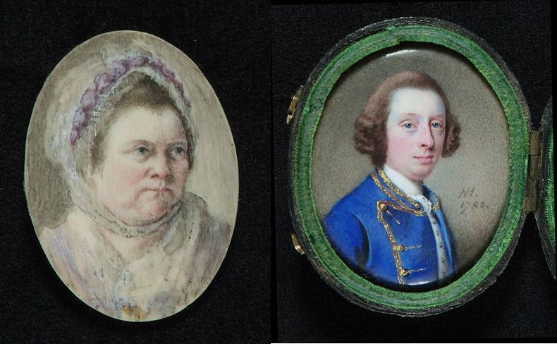 Two miniature portraits from the chancery exhibits relating to Mary Smith, catalogue reference: C 144/190