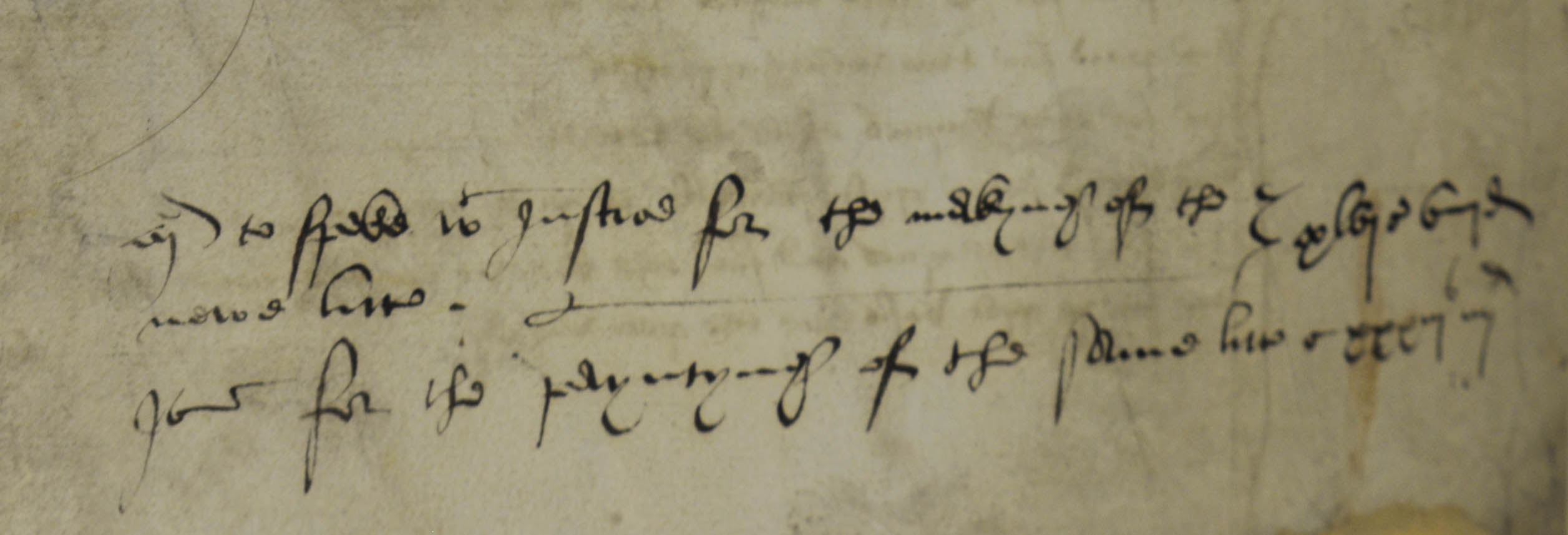 A note on the list for the preparations for Anne Boleyn's coronation, possibly in Cromwell's hand (SP 1/76, f.132).