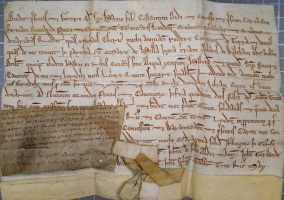 Medieval Contract 1277 Excellent Quality Manuscripts