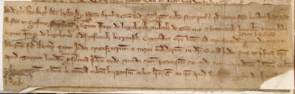 Instruction for a jury to inquire into the alleged crucifixion and killing of Hugh, son of Beatrice in Lincoln. JUST 4/1/3, no. 168.
