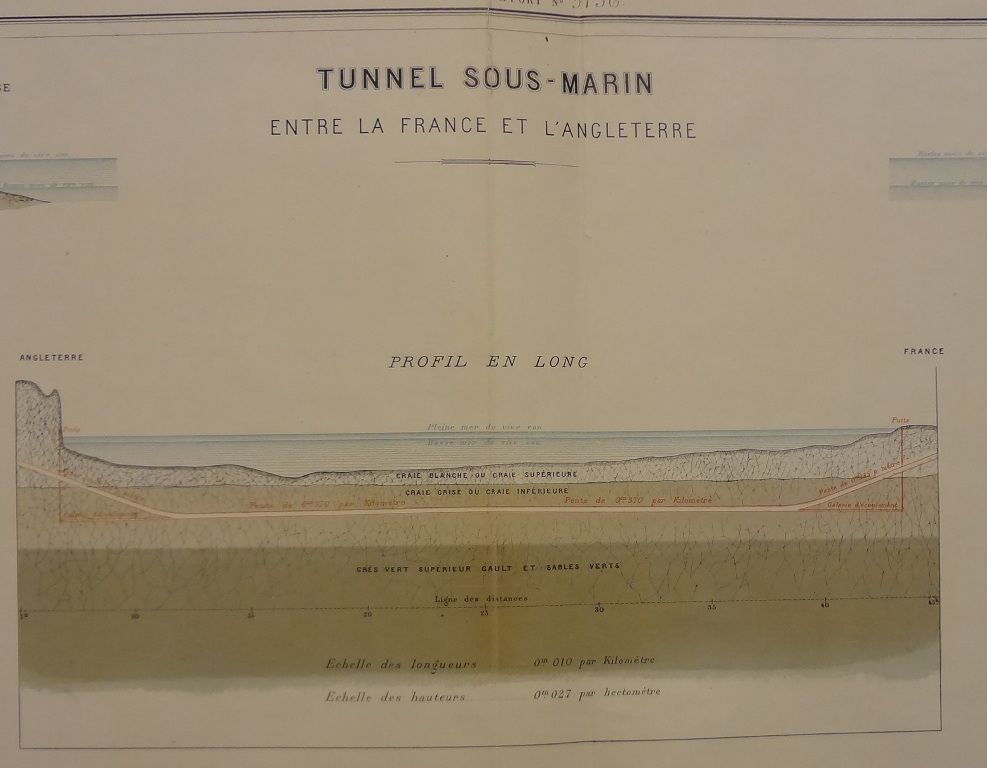 Submarine tunnel between France and England. Catalogue reference: FO 925/4203