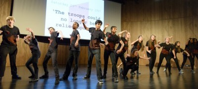 The students' performance. Used with permission from the V&A.