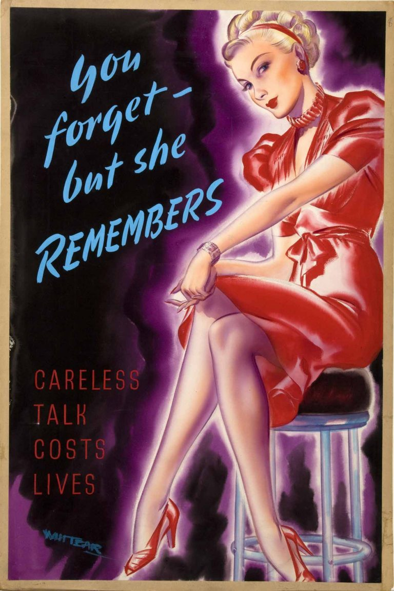 Poster: anti-rumour and careless talk: You forget - but she remembers ... 1939-1946 (Catalogue reference: INF 3/271)