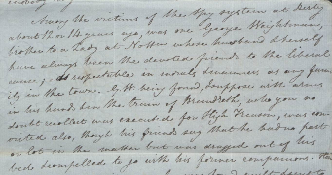 Detail from Goodacre's petition 1831 (catalogue reference HO 17/73/138)