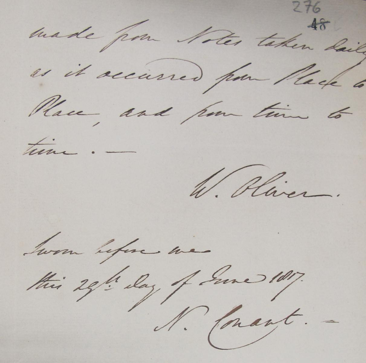 Oliver the Spy's signature (catalogue reference HO 40/9/2)