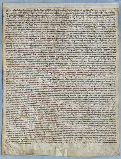 The Salisbury Magna Carta, 1215, by permission of the Dean and Chapter of Salisbury Cathedral