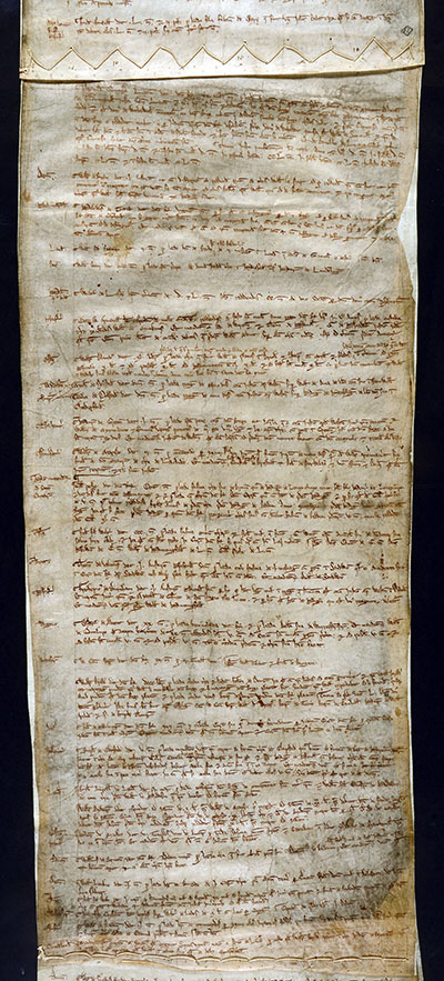 Fine roll showing payments made for justice (catalogue reference: C 60/2, m. 10)