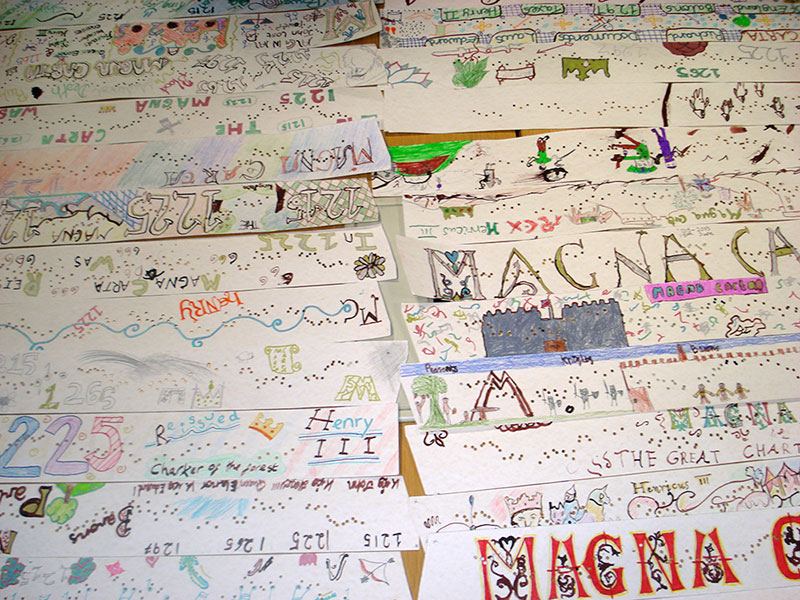 Magna Carta musical timelines