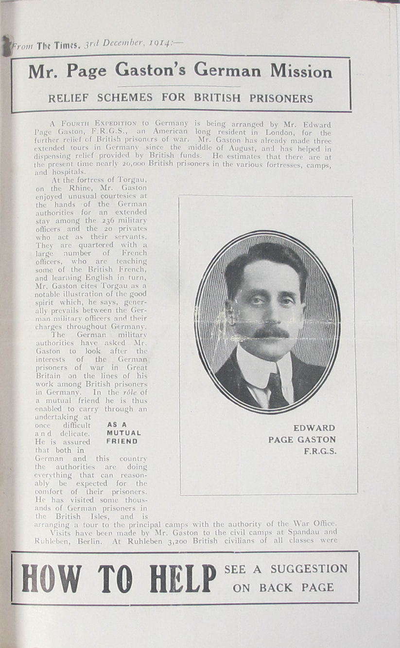 Mr Page Gaston's German mission (catalogue reference FO 383/48, file 3378)