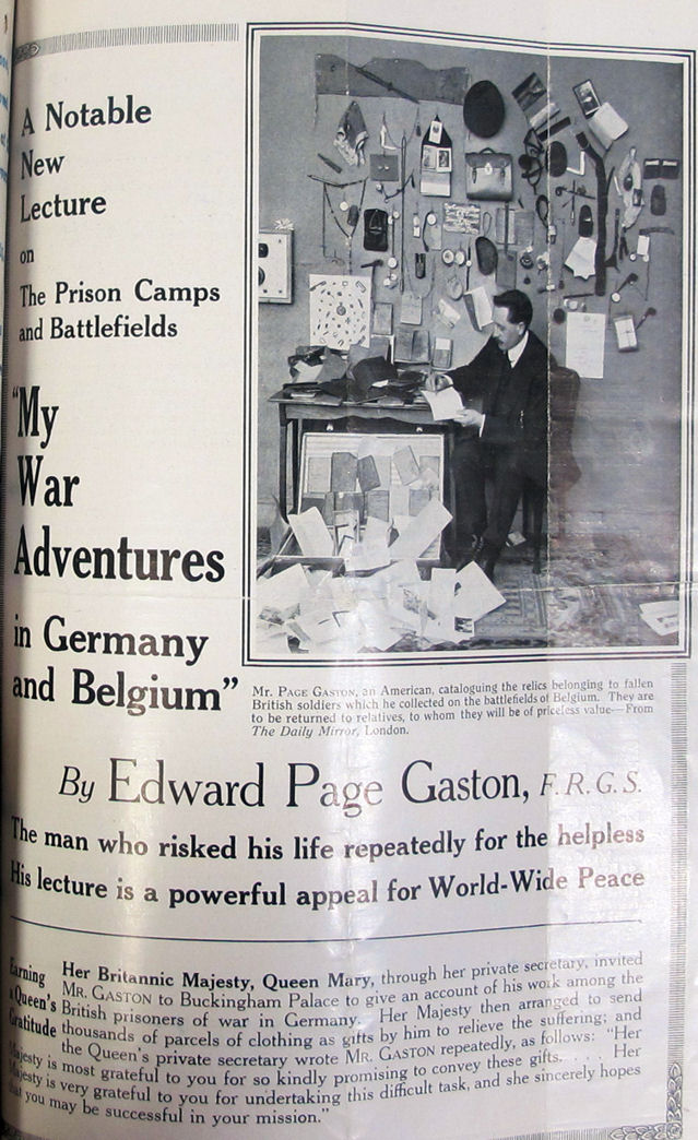 'My war adventures in Germany and Belgium' (catalogue reference: FO 383/296, file 42909)