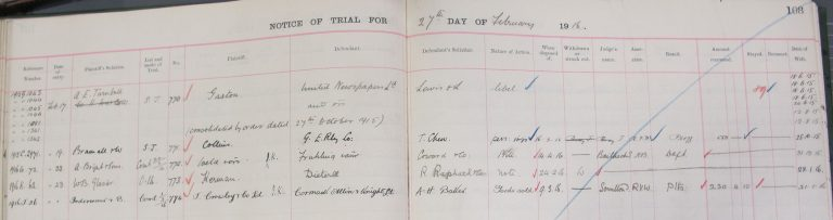 Notice of trial (catalogue reference: J 87/86)