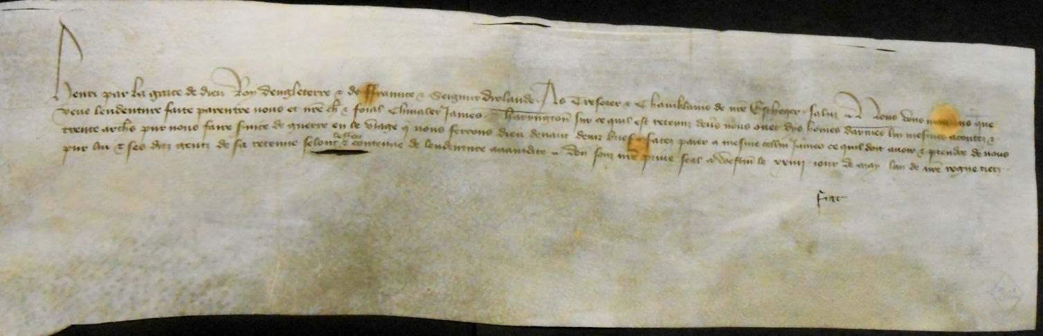 Warrant to Issues for Sir James Haryngton, dated 24 May (catalogue reference E 404/31/302)