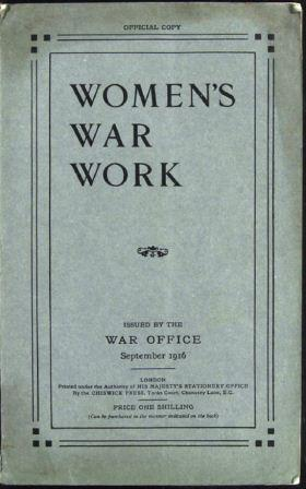 Image of 'Women's War Work' as issued by the War Office (catalogue reference MH 47/142)