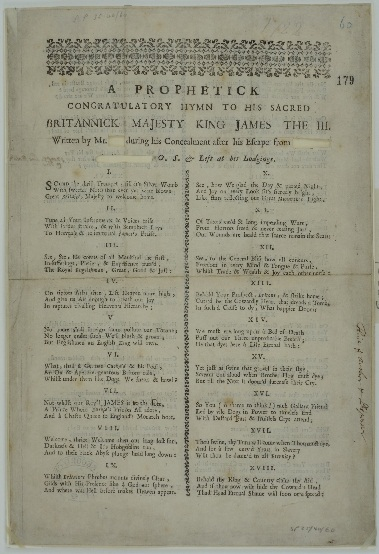 Poem c1722 (catalogue reference SP 35/40 f179)