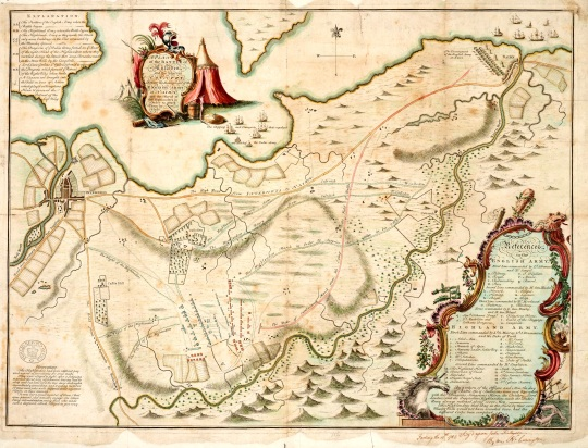 Map of the battle of Culloden, 1753 (catalogue reference MPF 1/1)