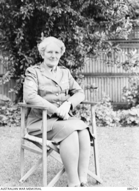 Major Alice Ross Appleford (neeKing), Australian Army Medical Women's Service, 1944: courtesy of AWM, 080772