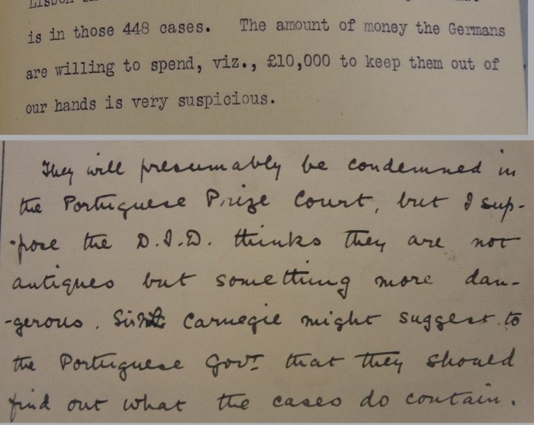 Intelligence Division to Foreign Office and Foreign Office minute (catalogue reference: FO 372/873)