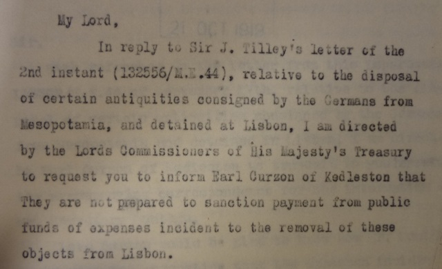 Treasury Official's report, 15/05/1920 (catalogue reference: T 161/5/6)