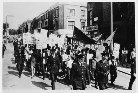 Black Power demonstration and march, Lancaster Road West London, 1970 (catalogue reference: MEPO 31/21)