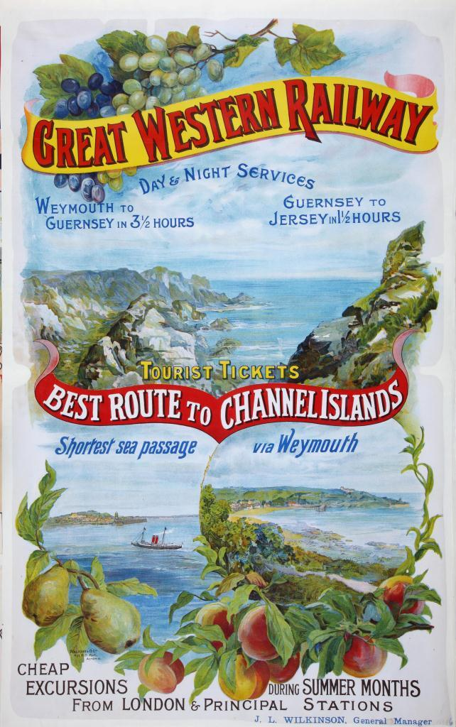 GWR 'Best Route To Channel Islands' 1897-1914 (catalogue reference: RAIL1014-39 (6))
