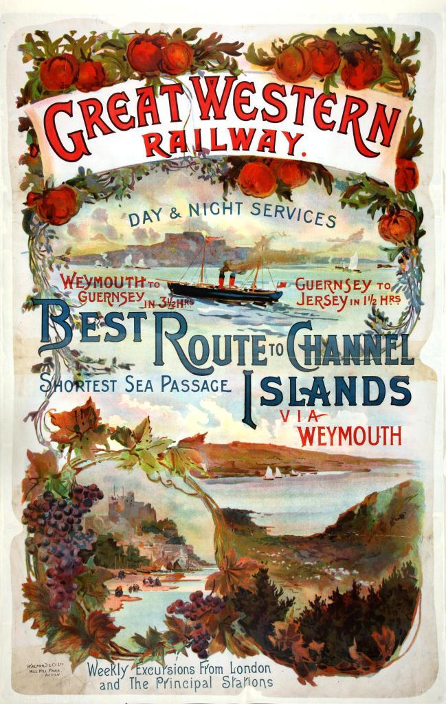 GWR 'Best Route To Channel Islands' 1897-1914 (catalogue reference: RAIL1014-39 (10))