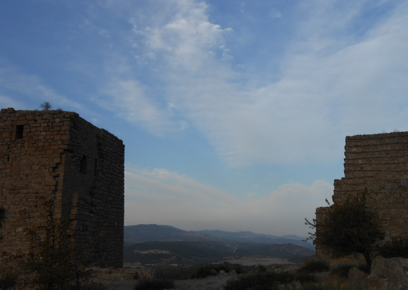 The ruins of the coastal Byzantine Fortress in the region historical region of Troas