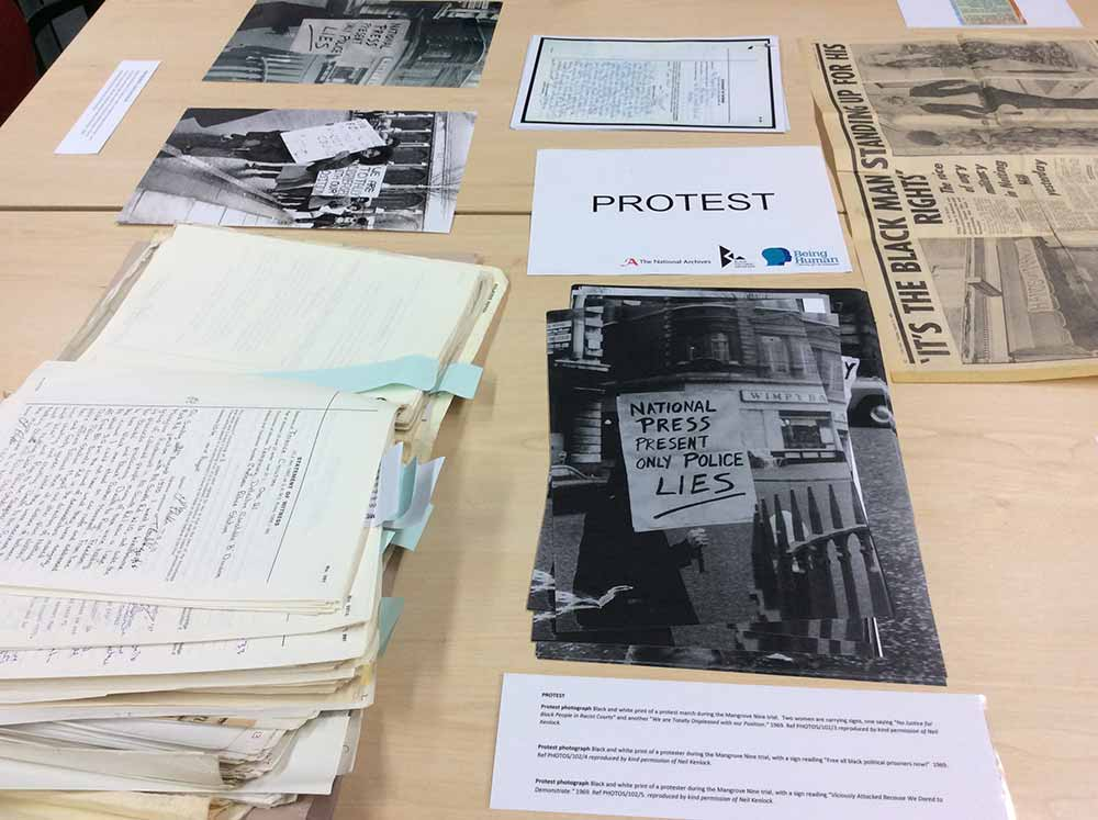 Documents displayed under 'Protest'