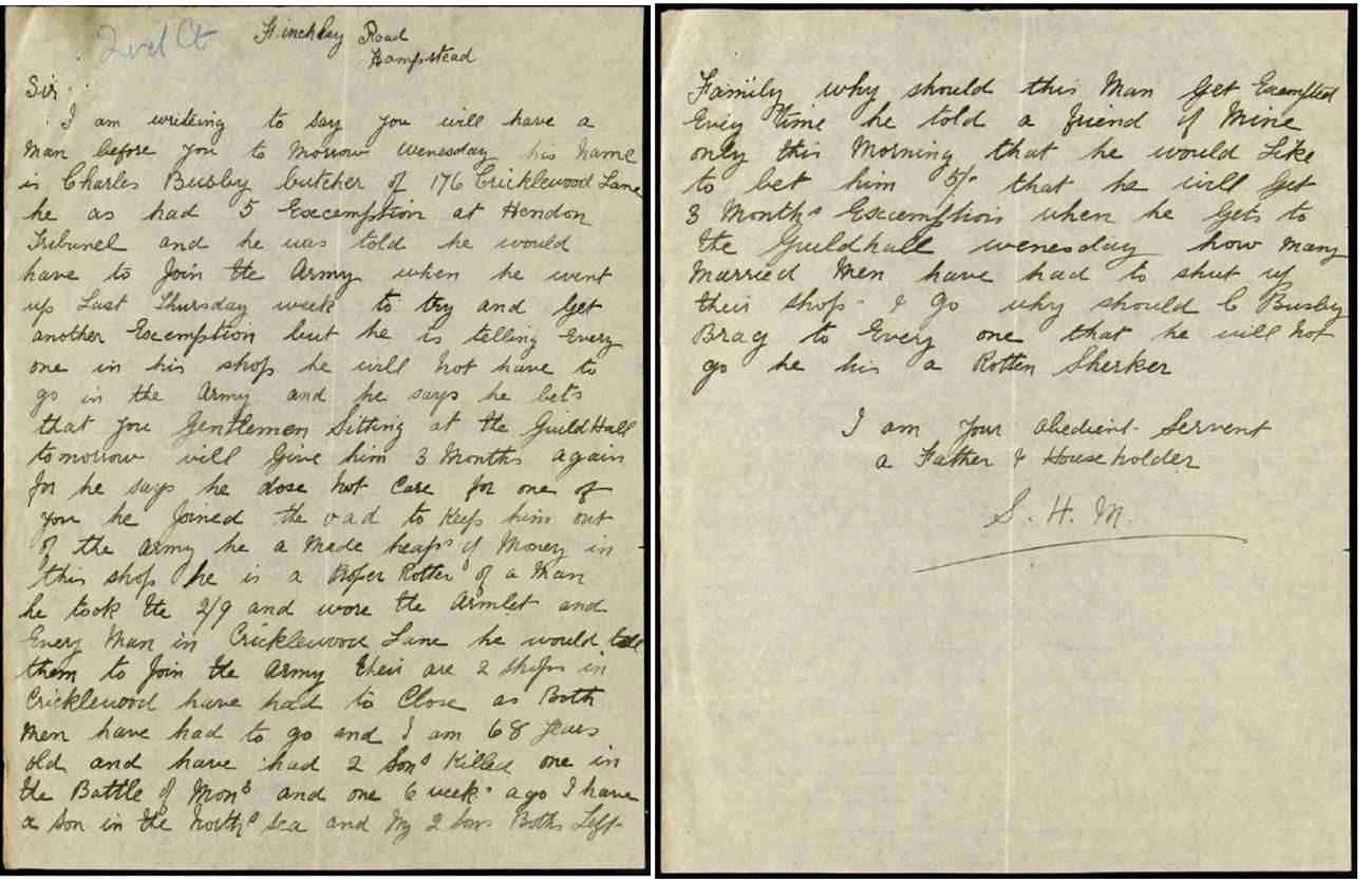 Image of handwritten letter from anonymous local resident against the appeal of Charles Busby.