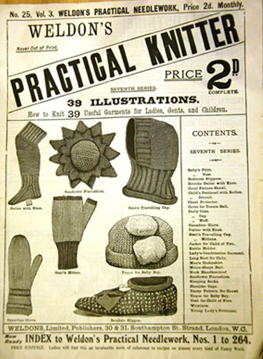 Vintage knitting pattern used in the project