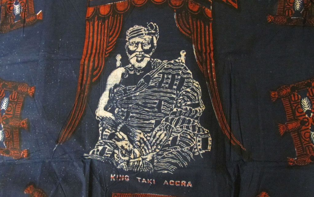 Image of a textile sample featuring King Taki of Accra