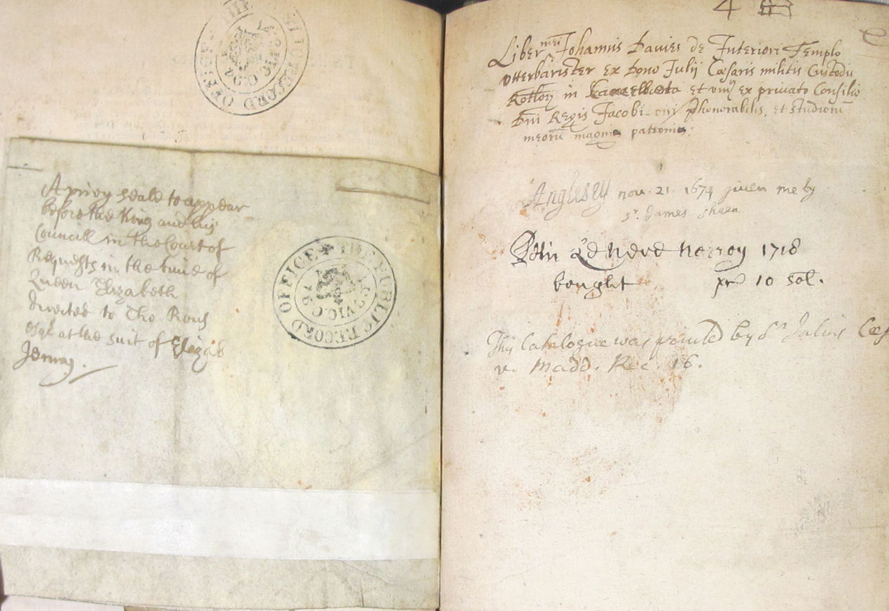 List of former owners of The antient authoritie and proceedings of the Court of Requests (Library Rare Books 164)