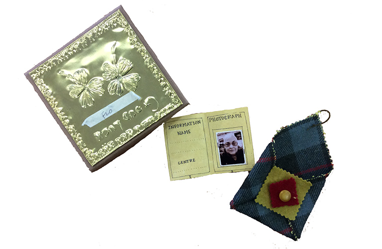 Image of three object produced during the Care and Comfort outreach sessions