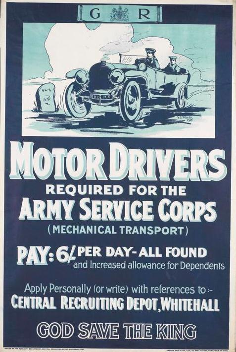 ASC recruiting poster, 1915 © IWM (Art.IWM PST 13484)