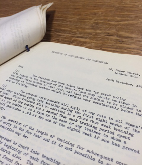 Image of typed Ministry correspondence
