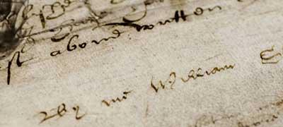 Image of William Shakespeare's signature on his will