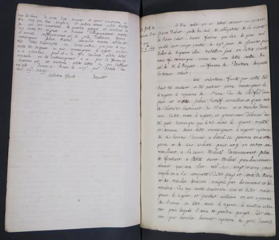 Image of transcript of the Indenture contract between the Duke of Bedford and Sir John Fastolf