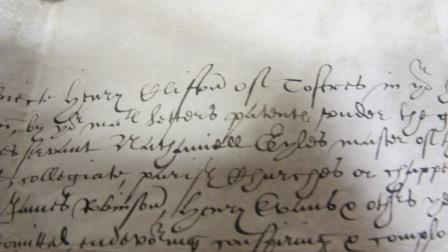 Image of complaint of Henry Clifton about his son who was kidnapped