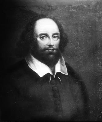 Portrait of William Shakespeare from a painting by Adam Elsheimer