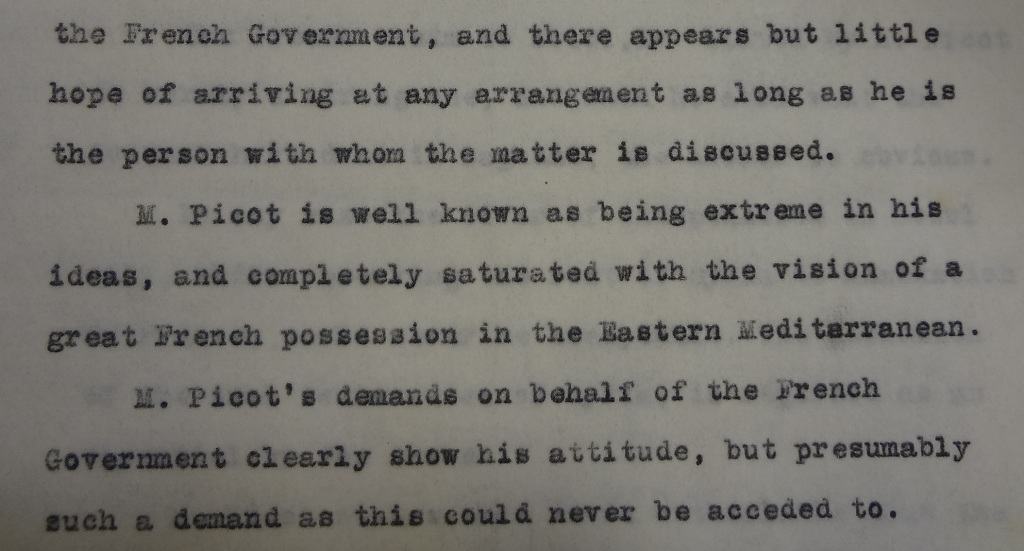 Clayton's account of the meeting held on 23 November 1915 (catalogue reference: FO 141/734/1)