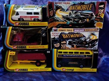 An image of Corgi Toys cars