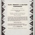 From the Working Press Archive; this published books by and about working class artists, 1986-1996. Includes conferences developed looking at publishing margianlised groups. Includes articles relating to loneliness, and shows links between class, poverty, feminism. Copyright: Stefan Sczelkun. Document reference: WPA/SS/10/2.